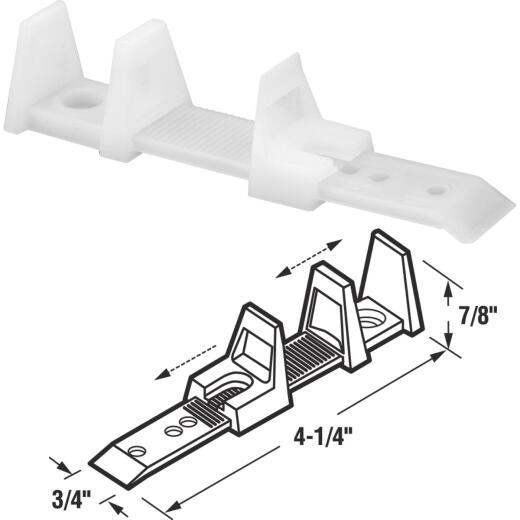 Prime-Line Adjustable Floor Mount Bypass Door Guide (2 Count)