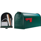 Gibraltar Elite T1 Green Steel Rural Post Mount Mailbox Image 1