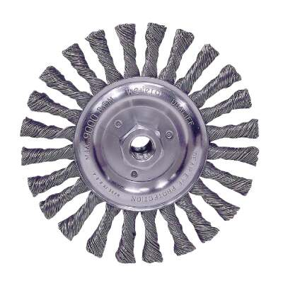 Weiler Vortec 6 In. Stringer Bead 0.025 In. Angle Grinder Wire Wheel
