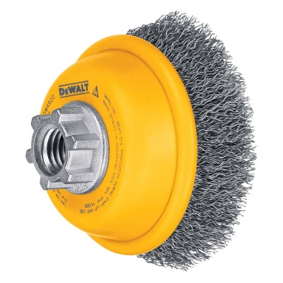 DeWalt 3 In. Crimped 0.014 In. Angle Grinder Wire Brush