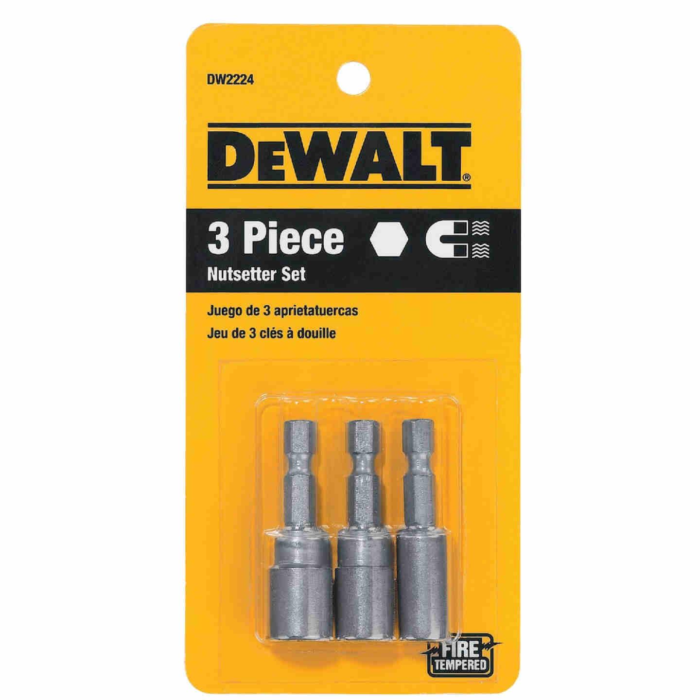 DeWalt 3-Piece Magnetic Nutdriver Bit Set Image 2