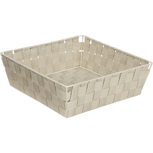 Home Impressions 11.75 In. x 3.75 In. H. Woven Storage Basket, Beige