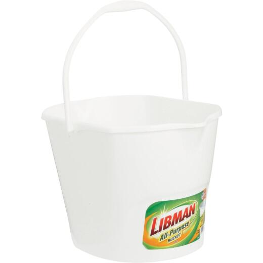 Libman 3 Gal. White All-Purpose Dual Spout Bucket