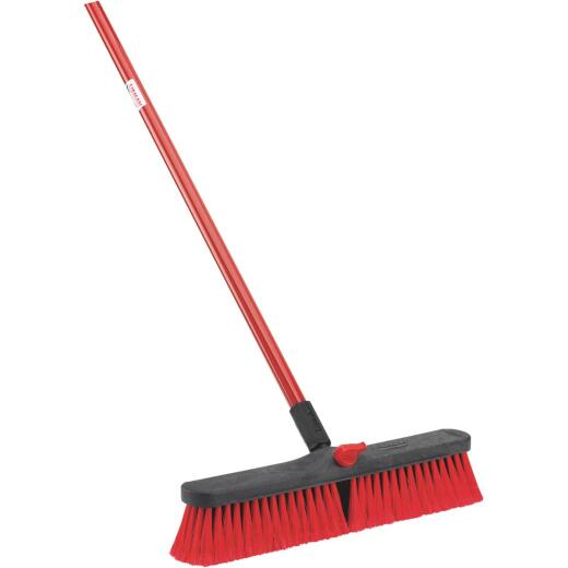 Libman 18 In. W. x 64 In. L. Steel Handle Multi-Surface Medium Sweep Push Broom