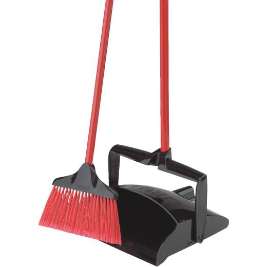 Libman 12 In. W. x 36 In L. Steel Handle Angle Lobby Household Broom with Dust Pan