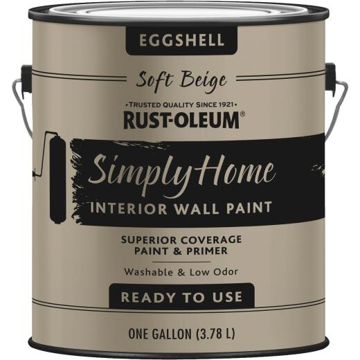 Simply Home Eggshell Soft Beige Interior Wall Paint, Gallon