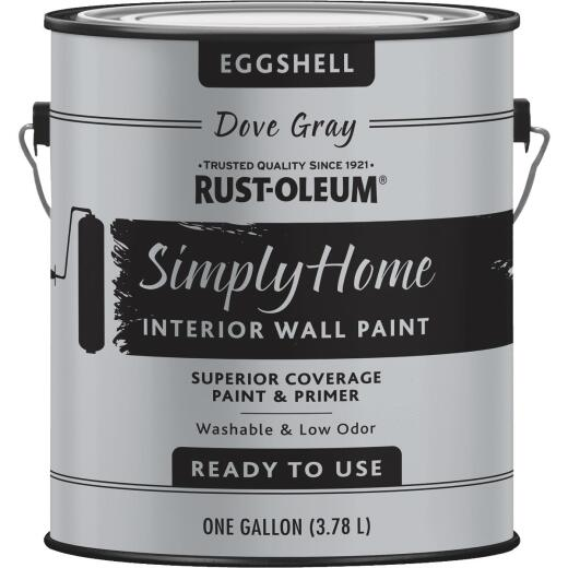 Simply Home Eggshell Dove Gray Interior Wall Paint, Gallon